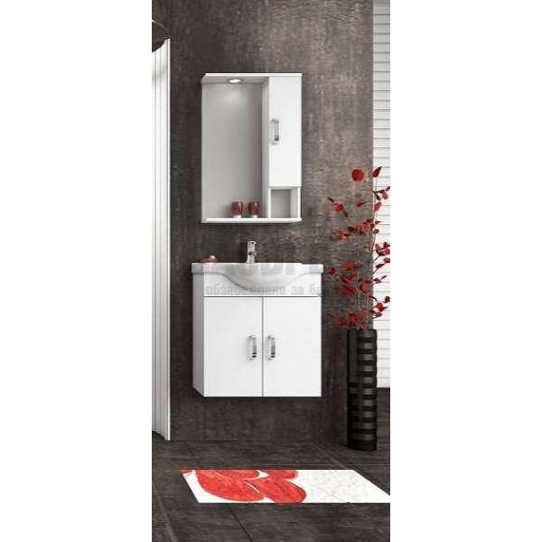 Комплект Alba 65 White MDF един горен шкаф komplekt-alba-65-white-goren