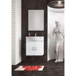 Комплект Alba 65 White MDF долен с огледало komplekt-alba-65-white-ogledalo