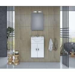 Комплект Alba 45 White MDF огледален горен шкаф komplekt-alba-45-white