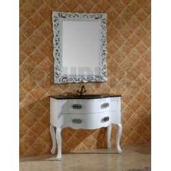 Комплект PVC ретро, вградена черна мивка и огледало komplekt-pvc-retro-cherna