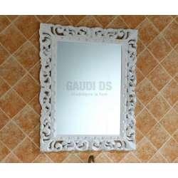 Комплект PVC ретро, вградена бяла мивка и огледало 1