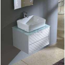 Долен Бюти PVC, стъклен плот, за мивка тип купа ICP 6048