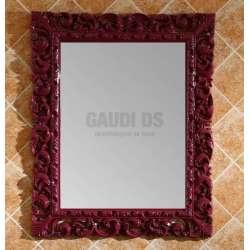 Комплект бордо PVC ретро, каменна мивка, огледало 1