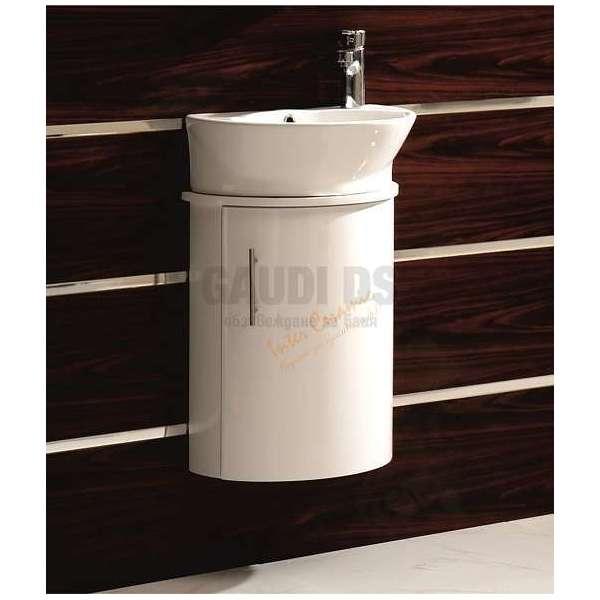 Долен Емира PVC, полукръг, порцеланова мивка ICP 4623