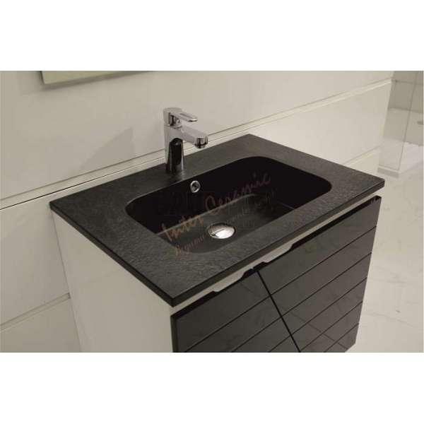 Долен Ения черен PVC, окачен, черна мивка от смола ICP 6555 B