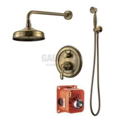 Смесител за вграждане, подвижен душ, старо злато ICT 5545372 BR