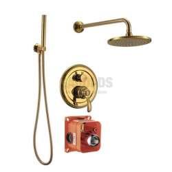Смесител за вграждане с душ и пита, злато ICT 5545372 GOLD