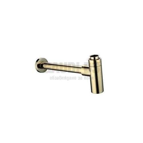 Декоративен сифон за мивка, злато