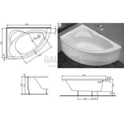 Асиметрична вана KOLO Neo Plus - лява 150х100 см 1