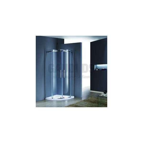 Овална Luxury с плъзгащи се врати 6мм стъкло 90х90х190 GDS_C_Luxury9090190