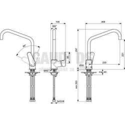 Пакет 3 в 1 SevaL 2, душ колона, 2 смесителя за мивки 1