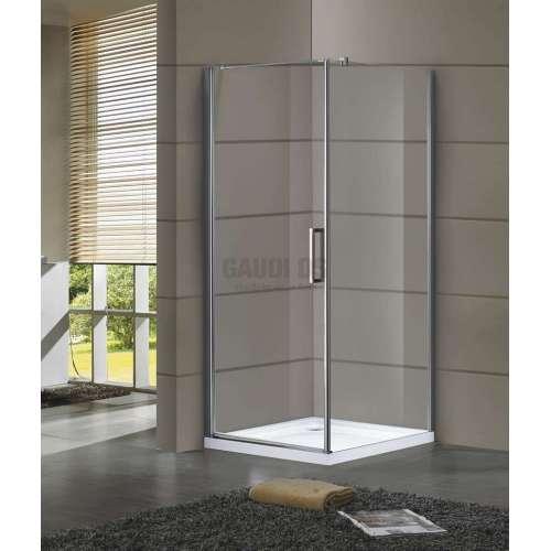 Квадратна Dream с отваряема врата 8мм стъкло 90х90х205