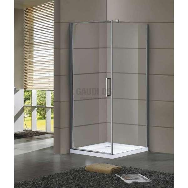 Квадратна Dream с отваряема врата 8мм стъкло 90х90х205 KL001