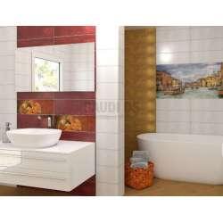 Плочки за баня Menorca Ocre and Burdeos 20x60 menorca_ocre_burdeos_20x60