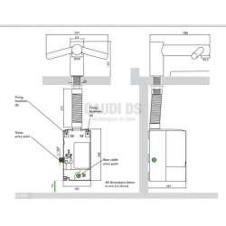 Сешоар със смесител Dyson Airblade Tap - къс, стоящ 1