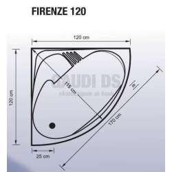 Ъглова акрилна вана Firenze 120 -120x120x43 см 2