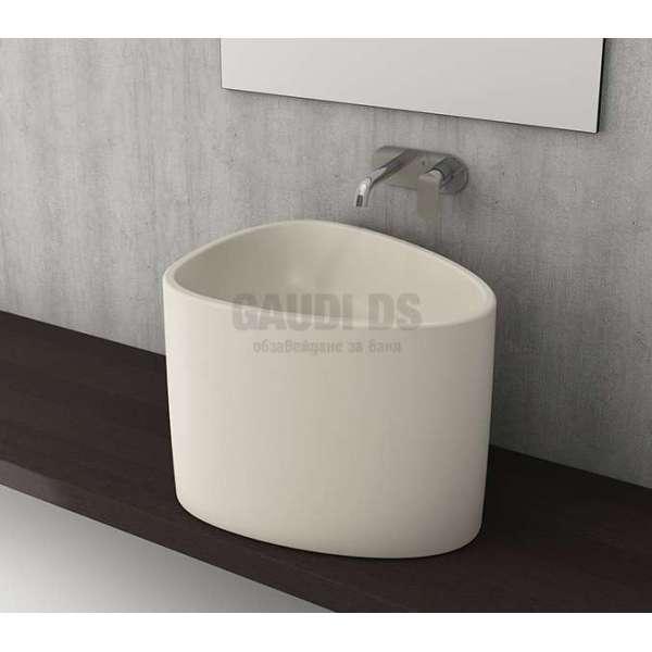 Bocchi Etna 58см мивка за монтаж върху плот бял гланц 1162 001 0125