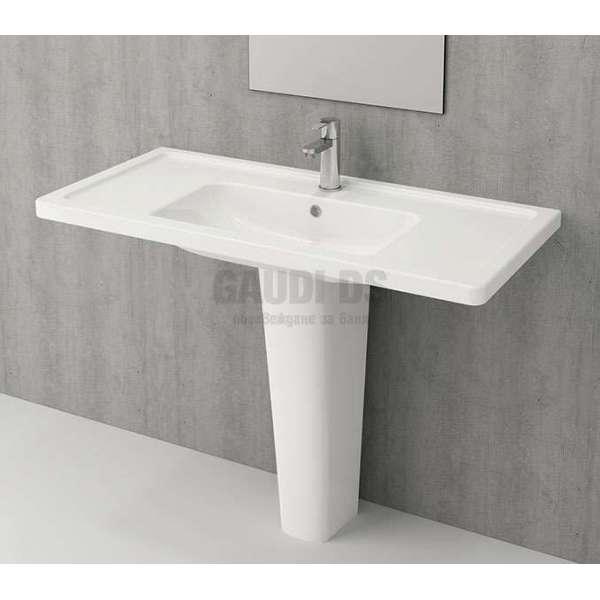 Bocchi Taormina Pro 105см за стена или шкаф бял гланц 1118 001 0126