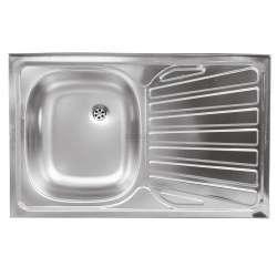 Единична мивка 50x80 см, дясна, покритие лен DR50/80APTS.H