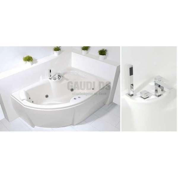 Wellis Sepia Hydro™ хидромасажна вана 150x105 см WK00040-2