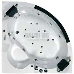 Wellis Milan Hydro™ ъглова хидромасажна вана 155x155x55 2