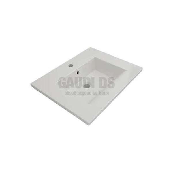 Bocchi Milano 60см умивалник за монтаж върху шкаф или плот бял гланц 1161 001 0126