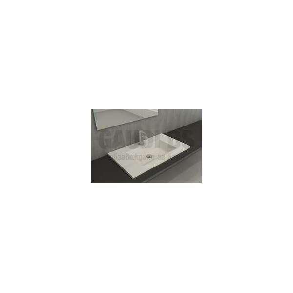 Bocchi Milano 80см умивалник за монтаж върху шкаф или плот бял гланц 1113 001 0126