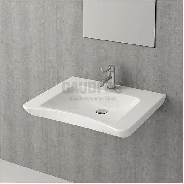Bocchi Care&Comfort 65см умивалник за стена бял гланц за хора с намалена подвижност 1142 001 0126