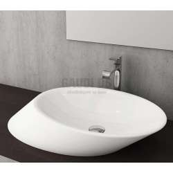 Bocchi Milano 70см умивалник за монтаж върху плот бял гланц 1013 001 0125
