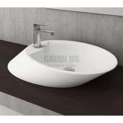 Bocchi Milano 70см умивалник за монтаж върху плот бял гланц с отвор за смесител 1021 001 0126