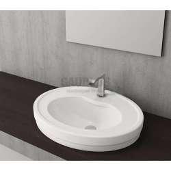 Bocchi Verona 60см умивалник за вграждане в плот бял гланц с 1 отвор за смесител 1048 001 0126