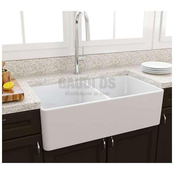 Bocchi Classico 33d кухненска мивка с две корита 85см 1138 001 0120