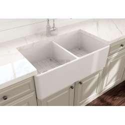 Bocchi Classico 33d кухненска мивка с две корита 85см 2