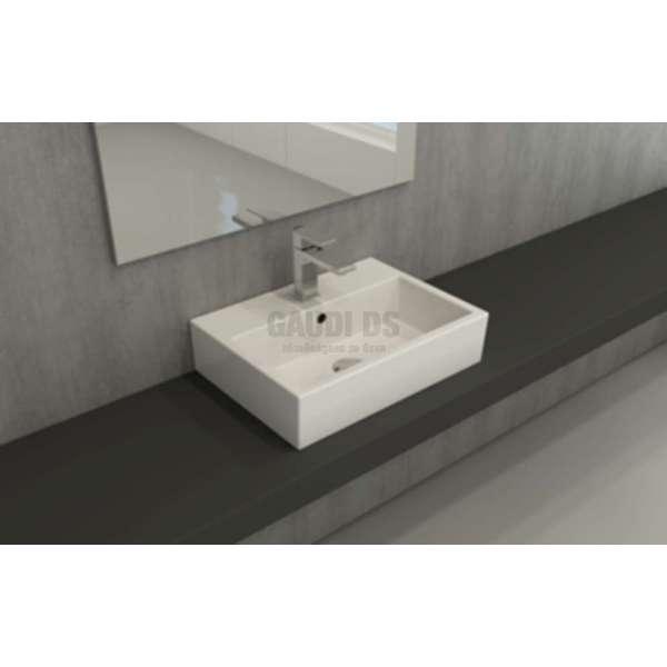Bocchi Scala 50x37см умивалник за монтаж върху плот бял гланц 1302 001 0126