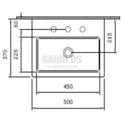 Bocchi Scala 50x37см умивалник за монтаж върху плот бял гланц 2