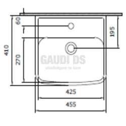 Bocchi Scala 45x41см умивалник за монтаж върху плот бял гланц 2