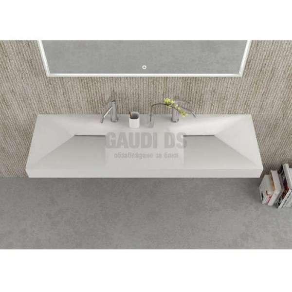 Двойна мивка за стенен монтаж 150x46 gdsicc 15046