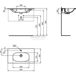 Мивка за мебел TESI 82 см 2