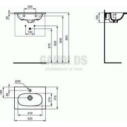 Мивка за мебел TESI 52 см 2