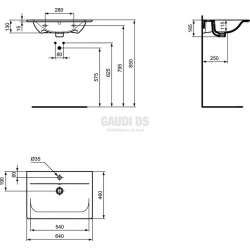 Connect Air мивка за мебел 64 см 2