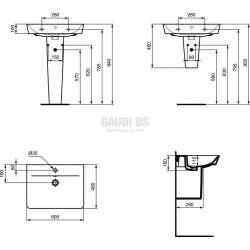 Connect Air мивка Cube 60 см 2