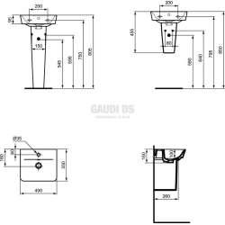 Connect Air малка мивка за ръце Cube 40 см 1