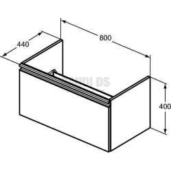 TESI шкаф за мивка 80 см 2