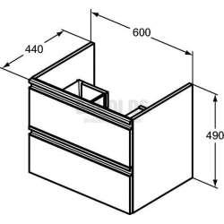 TESI шкаф за мивка 60 см 2