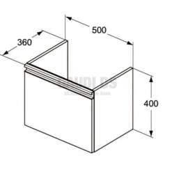 TESI шкаф за мивка 50 см 2