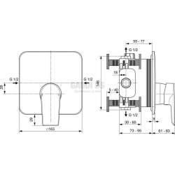 TESI вграден смесител за душ 2