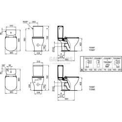 TESI стояща тоалетна чиния AQUABLADE® 2