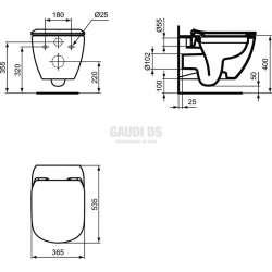 TESI конзолна тоалетна чиния без ринг 2
