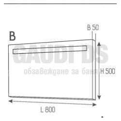 Огледало с PVC рамка и LED осветление 80 см 1
