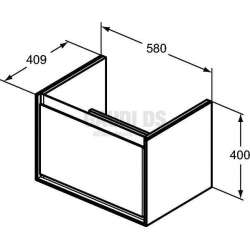 Connect Air шкаф за мивка Cube 58 см 2